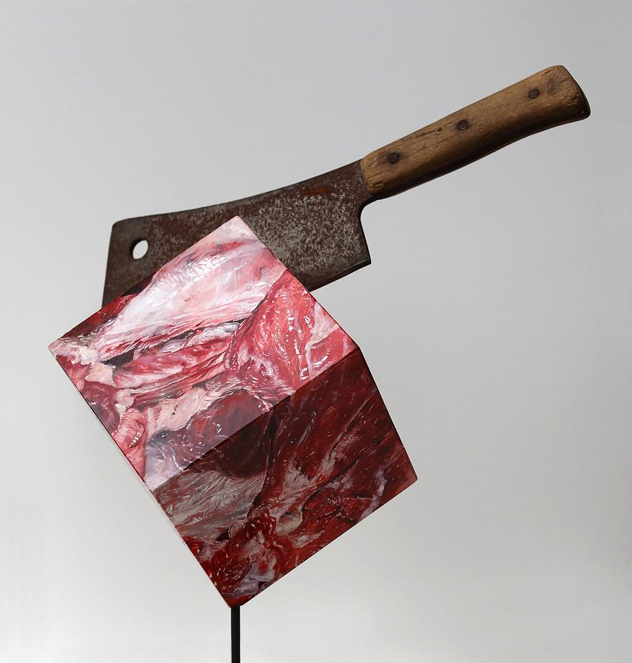 """(SOLD) """"Carnivore"""" 50 x 40"""