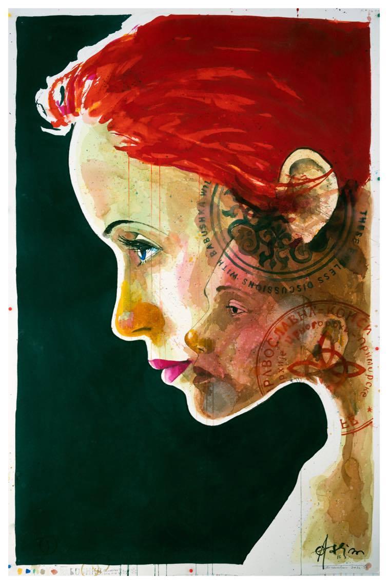 "(SOLD) ""Babushka Conversations"" 160 x 110 cm"