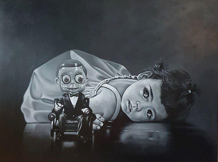 90 x 120 cm oil on canvas by Hans Henrik Fischer (DK)