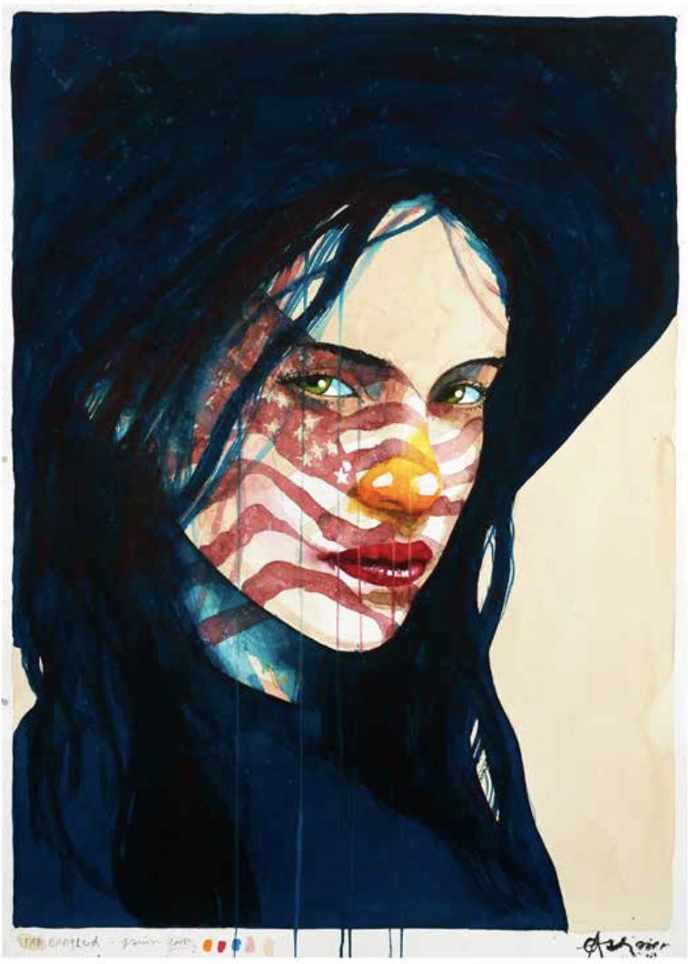 """Star Bangled"" 105 x 75 cm (papersize)"