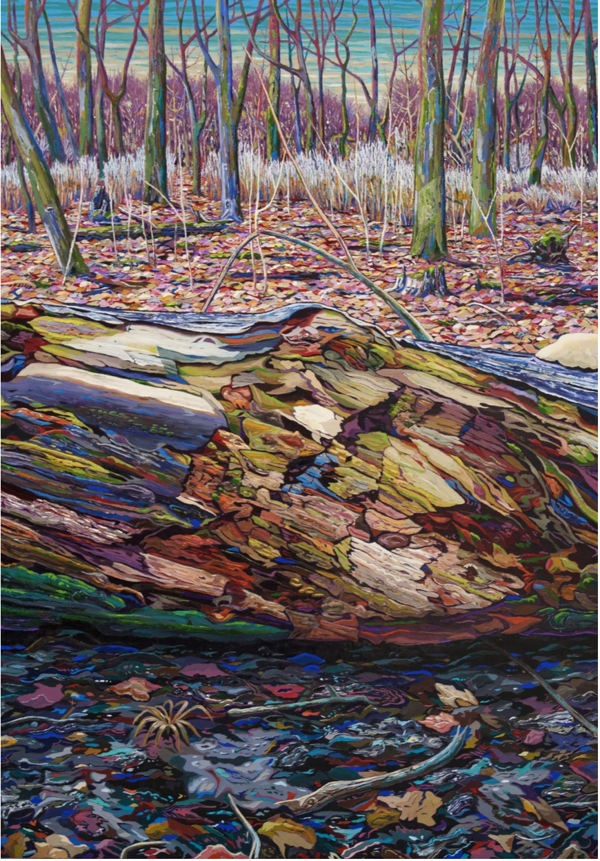 Konstantin Déry,  Clearing in The Evening , 210 x 140 cm. Oil on Canvas. 2017.