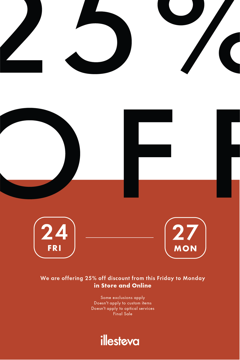 Black Friday sale - Rejected Email Blast Poster