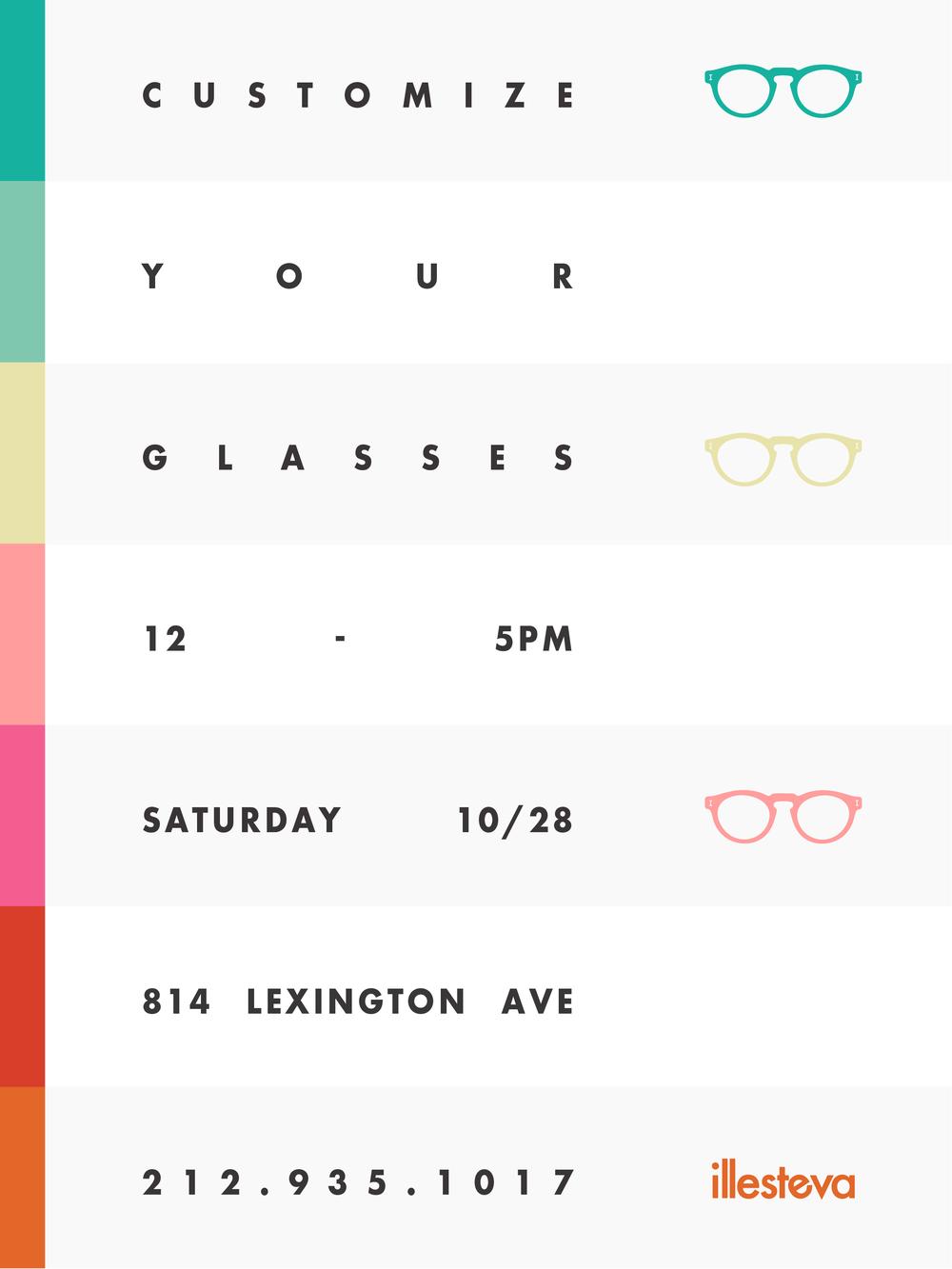 Design your Own - Customization event at Illesteva Lexington