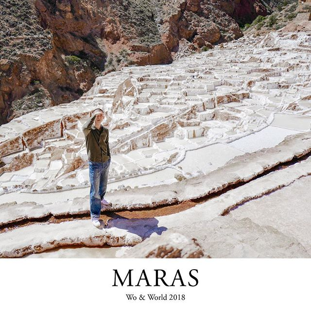 Maras, Peru [2018] So salty I can't look at you. #woandmaras #woandperu #travel #travelgram #wanderlust #instatravel #travelphotography #cusco #architecture #peru #cuzco #maras #saltmine