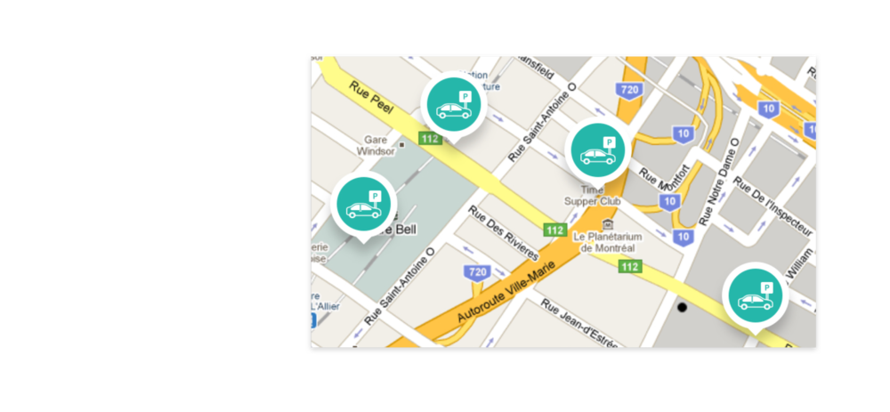 - Map and Pins: Users can move around the map and explore parking locations. They can see parking spot markers and tap between options.Conclusion: Markers and the map should be prioritized.