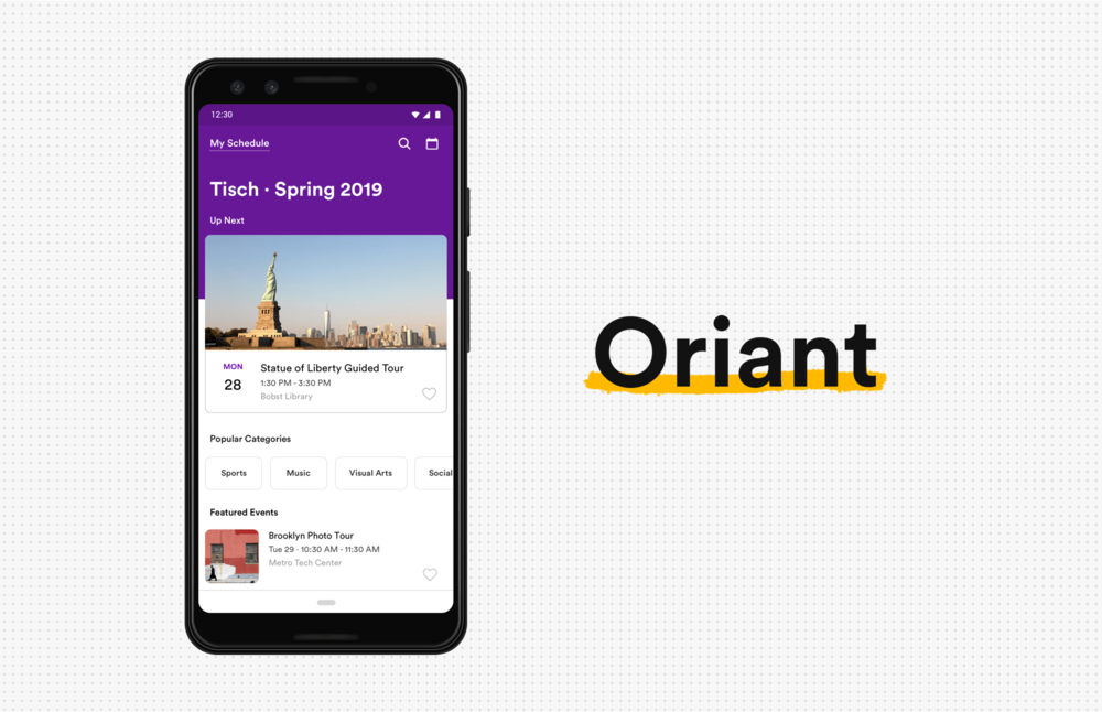 Oriant - Seven-day design challenge: an orientation web app designed for schools.Case Study