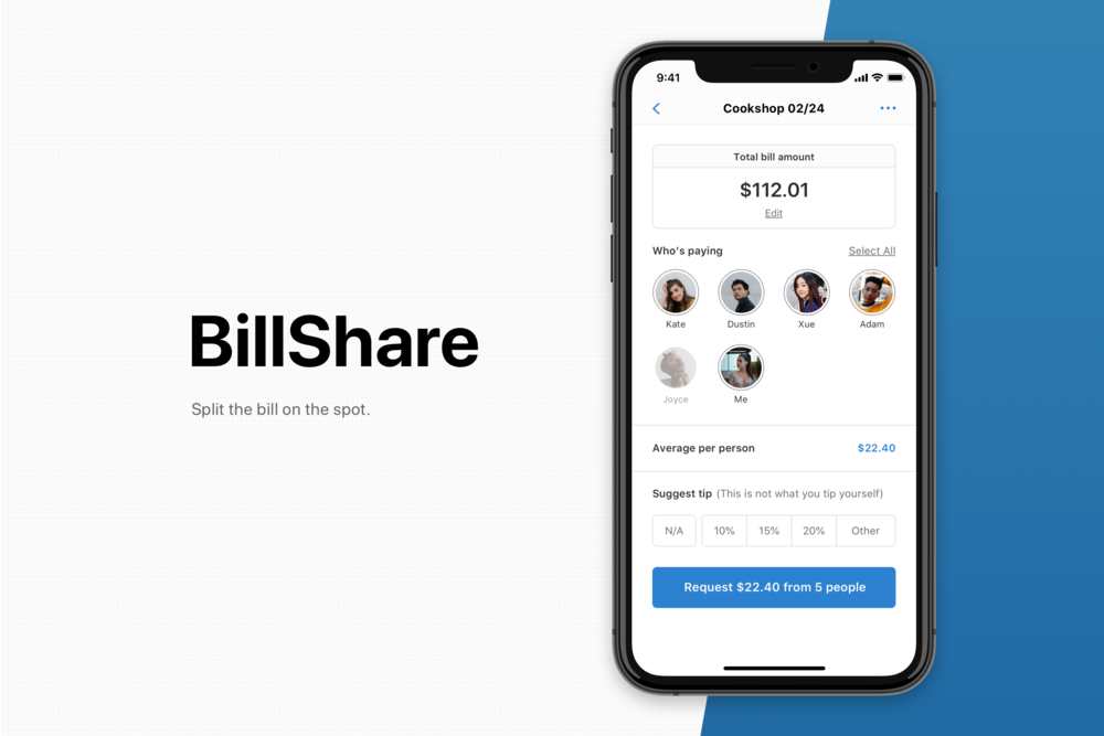 BillShare - A lightning fast bill splitting app. Settle your bills on the table.Case Study