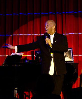 "June 5th 2015, my cabaret ""At Home And Abroad"" at the Crazy Coqs, Brasserie Zédel, London - Philip Foster, Musical Director."