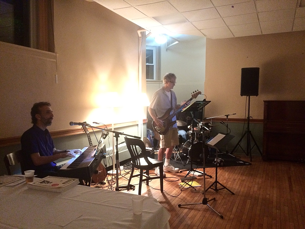 Saturday night music provided by the  Brian Katz , Focusing Trainer Tony Cohn on drums, and Larry Addy on bass.