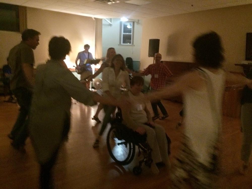 Enjoying a night of dancing