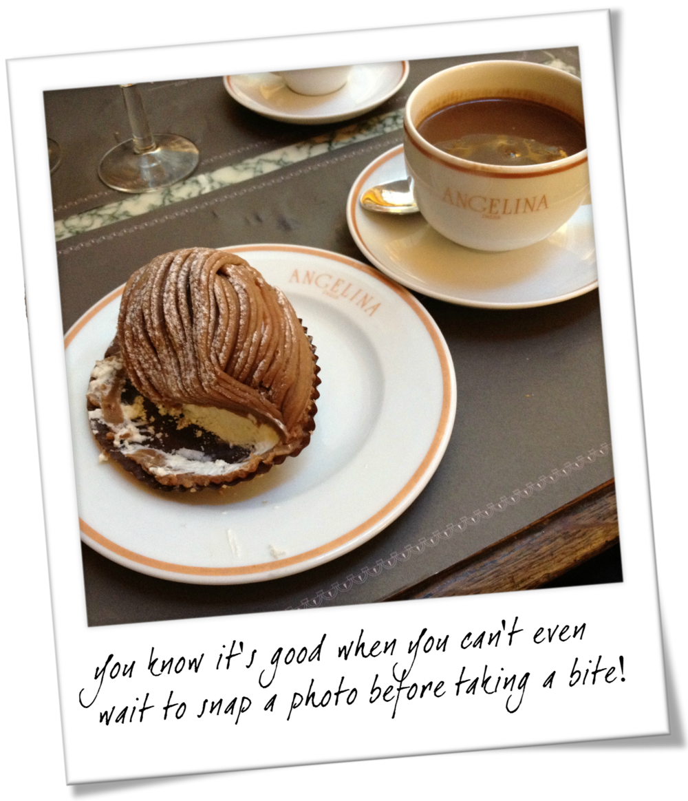 Paris Must Eats - Angelina's Hot Chocolate and Pastry