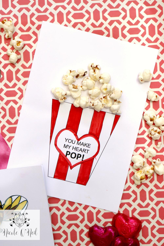 Create DIY Printable Valentines Cards Nicole ONeil Real – Food Valentines Cards