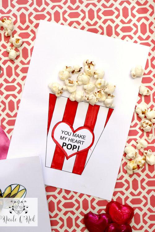 Create DIY Printable Valentines Cards Nicole ONeil Real – Create Valentines Card
