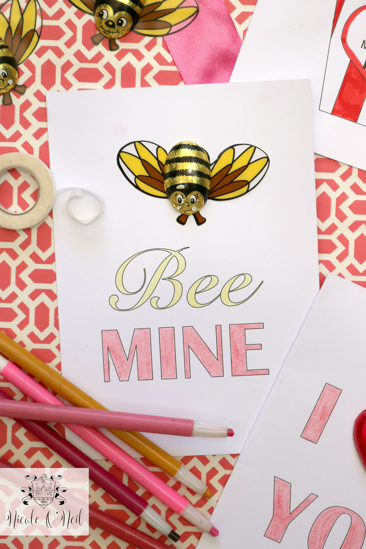 Create DIY Printable Valentines Cards Nicole ONeil Real – Valentines Day Cards Printable