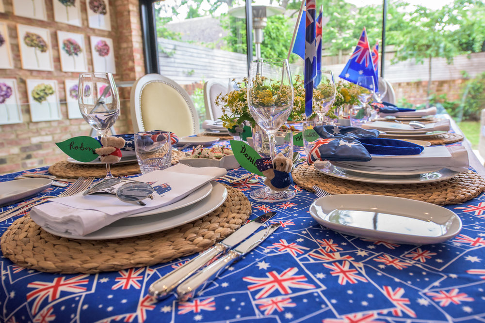 Australia Day Party Table Setting Ideas and Inspiration - Nicole O'Neil
