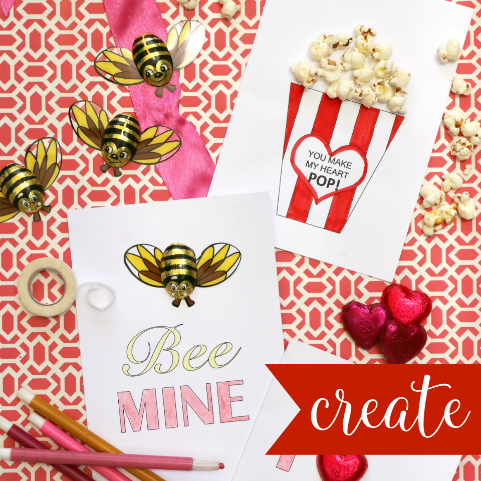 Easy Free Printable Valentine's Day Cards with Instructions