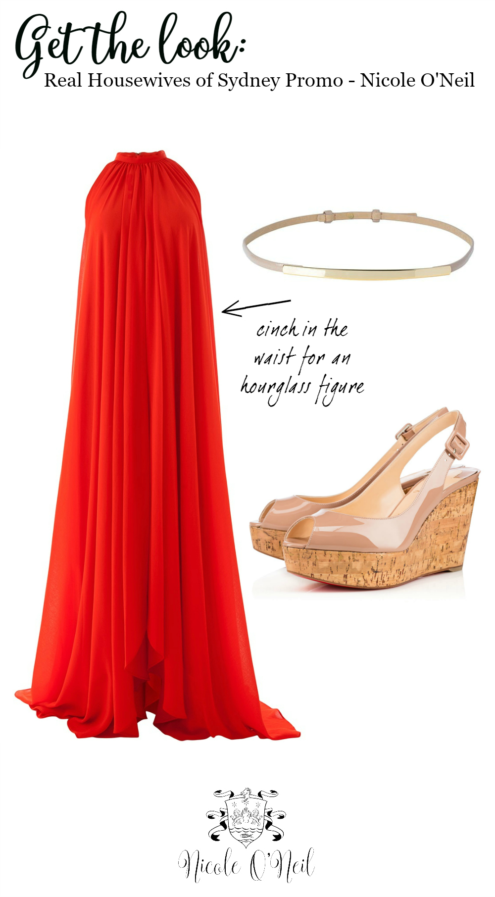 Red Dress Outfit Inspiration - Nicole O'Neil Real Housewives of Sydney Promo Ad - Shop the Look