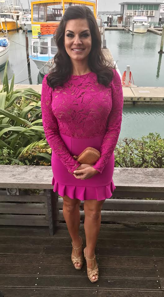 Nicole O'Neil - Fuschia Lace Dress Outfit Post - How to Recreate Designer Outfit Looks on a Budget