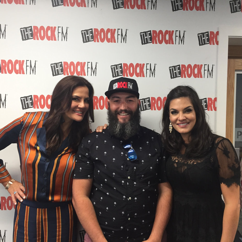 Krissy and Nicole with The Rock FM New Zealand