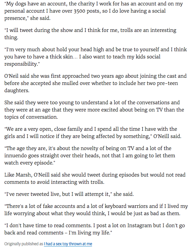 Krissy Marsh says Housewives may impact her children's lives - The Courier Mail 21-02-2017 3.png