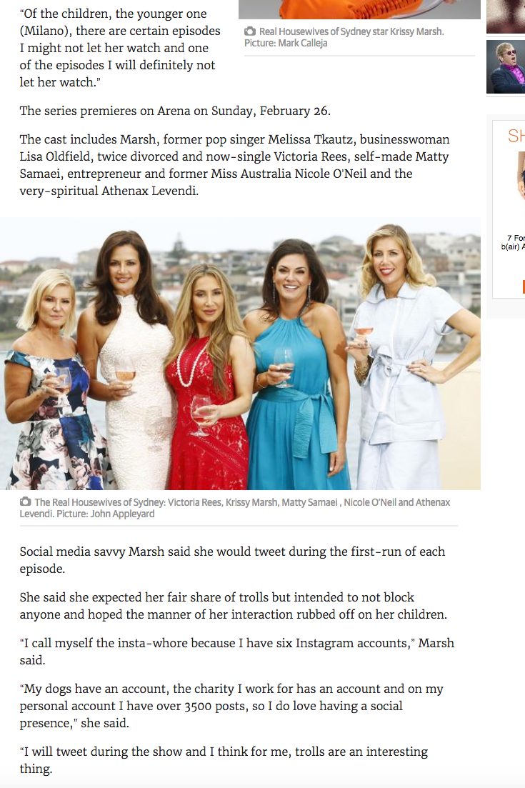 Krissy Marsh says Housewives may impact her children's lives - The Courier Mail 21-02-2017 2.png