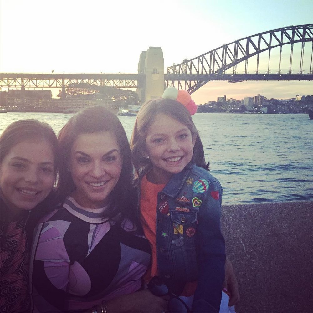 The girls and I on one of our first days back in Sydney!