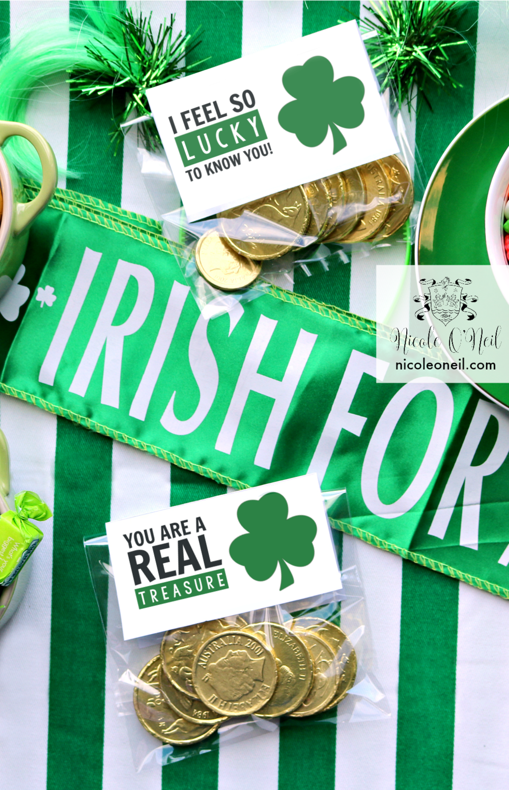 DIY Printable St Patrick's Day Treat Bags