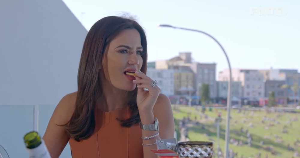 Krissy and Victoria Eating Jatz Crackers -  The Real Housewives of Sydney Episode 2 Season 1 Recap S01E02