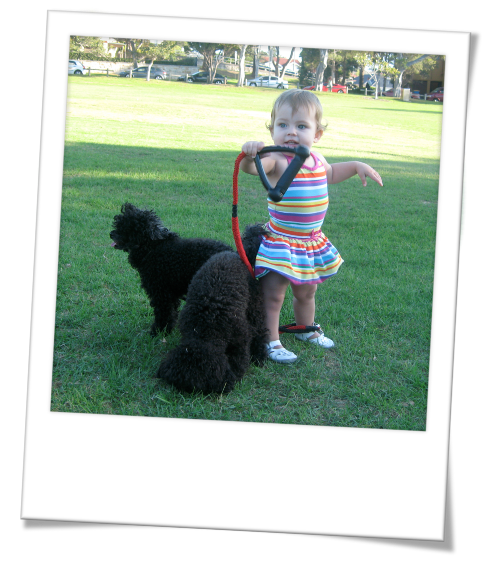 Neve with Bella and Baci
