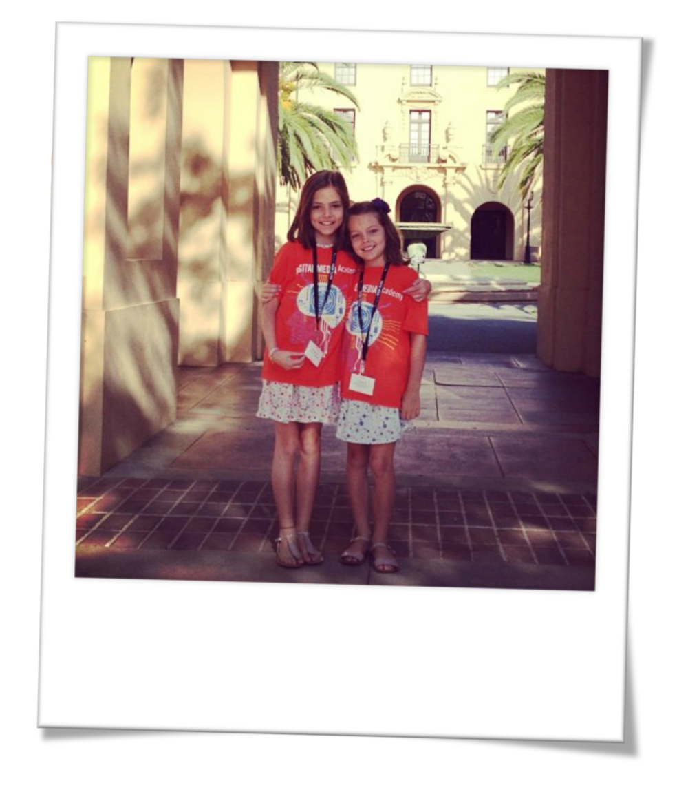 Nawal and Neve off to Stanford University Digital Academy Summer Camp