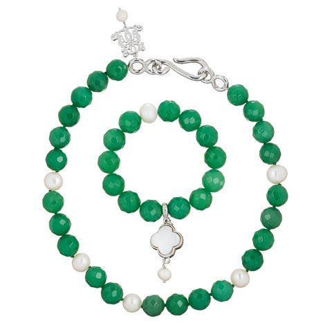 Bowerhaus Aventurine Necklace & Bracelet Set