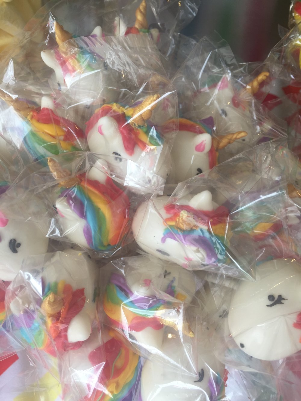 Unicorn Cake Pops for Neve's Rainbow Unicorn Themed Birthday Party
