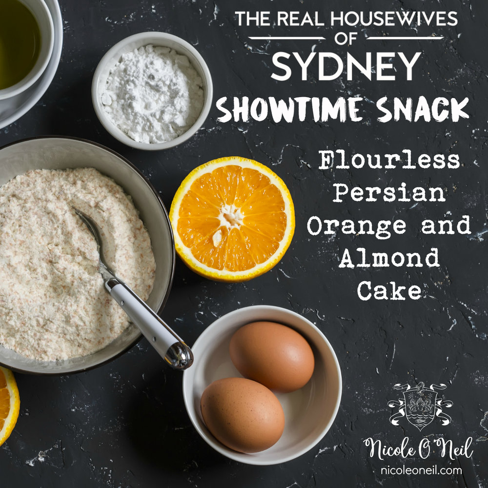 Persian Orange And Almond Cake Recipe | Get ready for this week's episode of The Real Housewives of Sydney with Nicole O'Neil's delicious Persian Orange Cake Recipe. It's even flourless and gluten free!