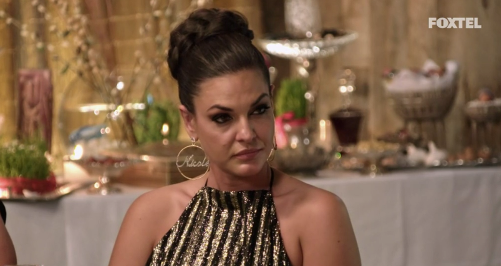 Nicole at Matty's Persian Party  - The Real Housewives of Sydney Episode 6 Recap Season 1