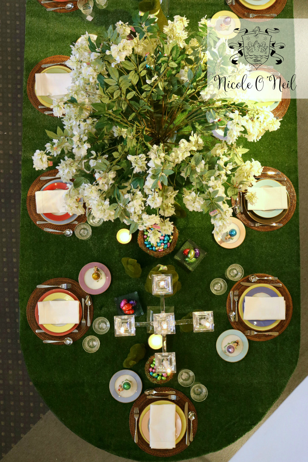 Top View of Peter's of Kensington Easter Table Easter Table Setting Inspiration - How to Decorate An Easter Table
