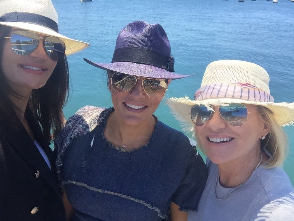 Nicole, Krissy and Victoria sailing Sydney Harbour - Behind the Scenes of The Real Housewives of Sydney Episode Seven