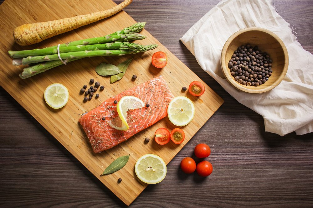 Easy Baked Salmon Recipe  with Caper Sauce
