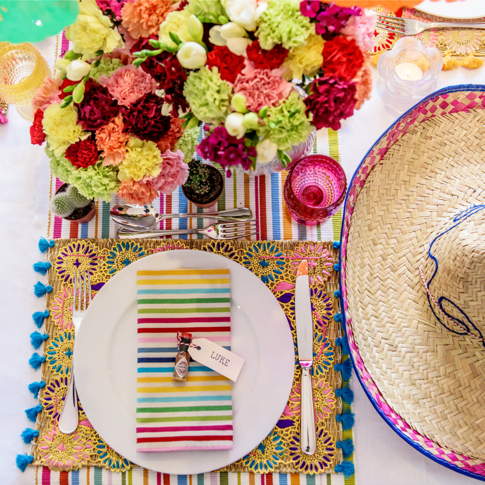 Be inspired to host your own Cinco de Mayo Party with this table setting inspiration by  sc 1 st  Nicole Ou0027Neil & Be Inspired: A Mexican Themed Fiesta Party u2014 Nicole Ou0027Neil - Real ...