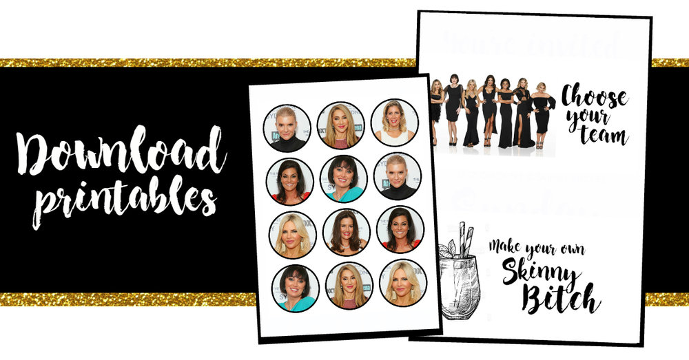 Download your Real Housewives of Sydney Reunion Party Printables