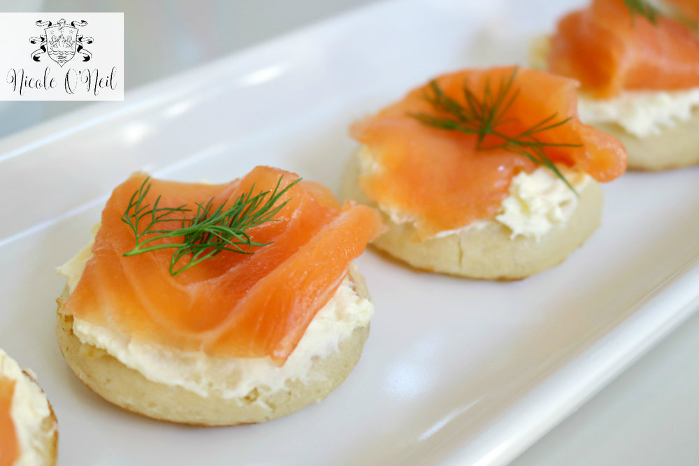 Smoked Salmon and Creme Fraiche Blinis - The Real Housewives of Sydney Reunion Party