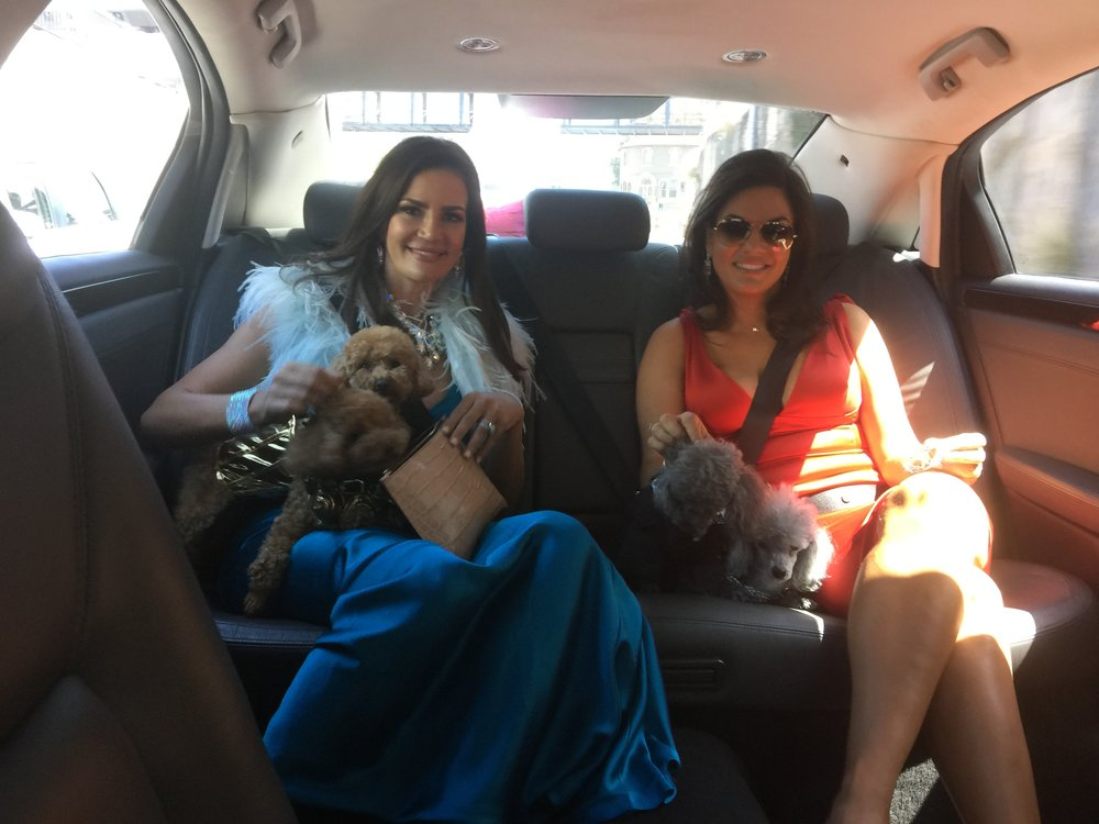 Krissy and Nicole in the car on the way  - Behind the Scenes of The Real Housewives of Sydney Episode 11 Season 1