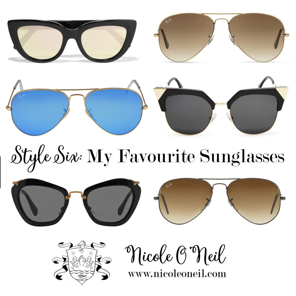"The Real Housewives of Sydney's Nicole O'Neil shares her Top Six Favourite Sunglasses Styles with both ""splurge"" and ""save"" options to help you find your perfect pair - regardless of budget!"