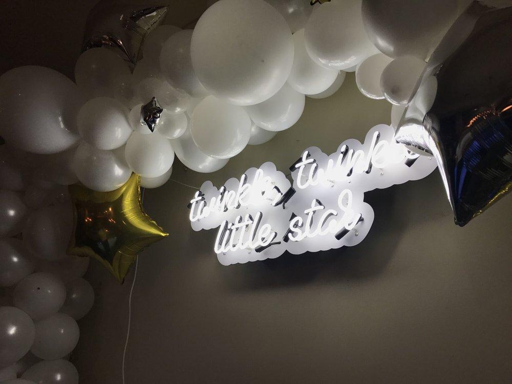 Twinkle Twinkle Little Star Themed Baby Shower - Custom Neon Sign for Nursery