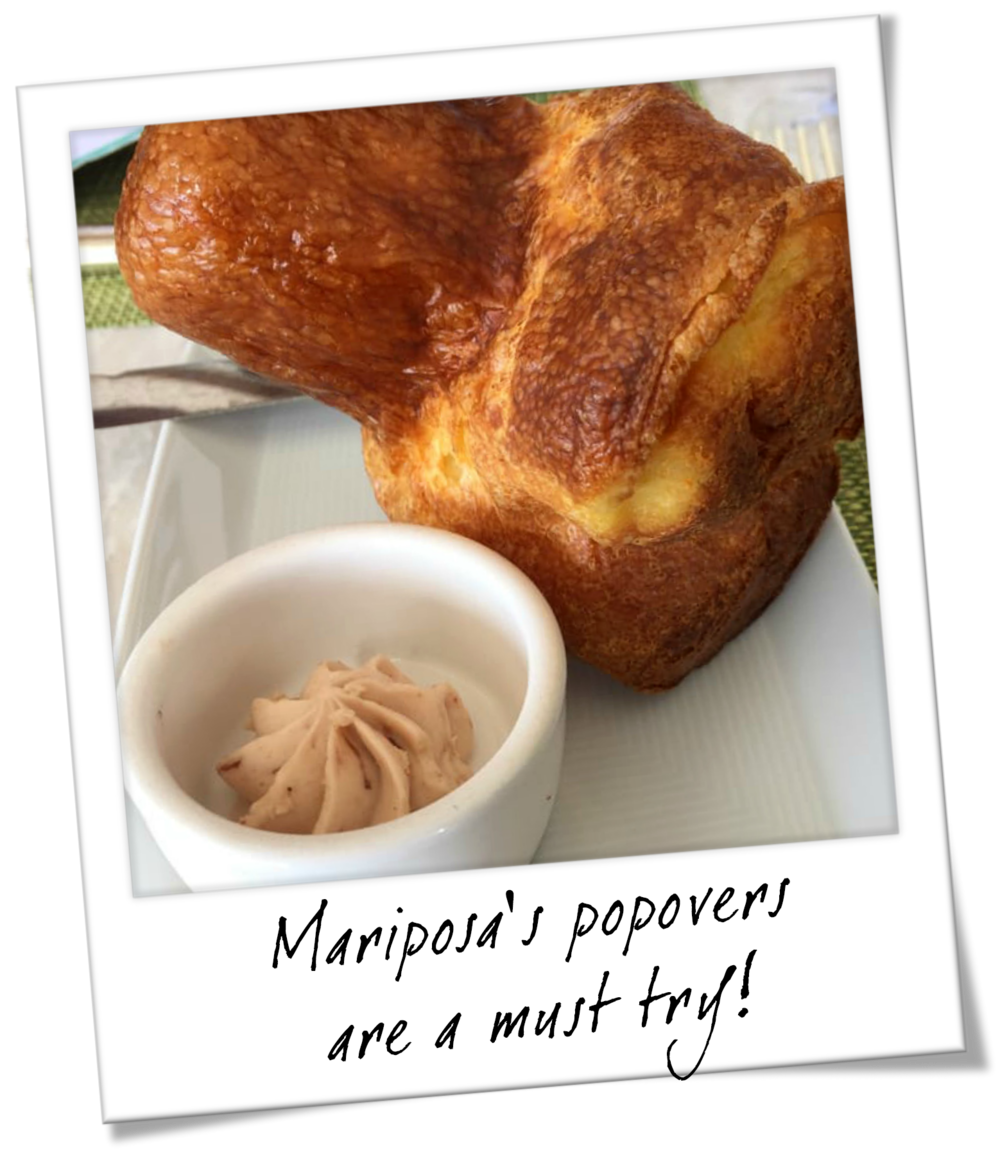 Mariposa Neiman Marcus Popovers with Strawberry Butter - Oahu Hawaii Travel Guide