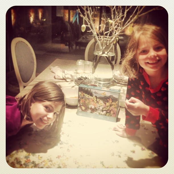 Two happy puzzlers!