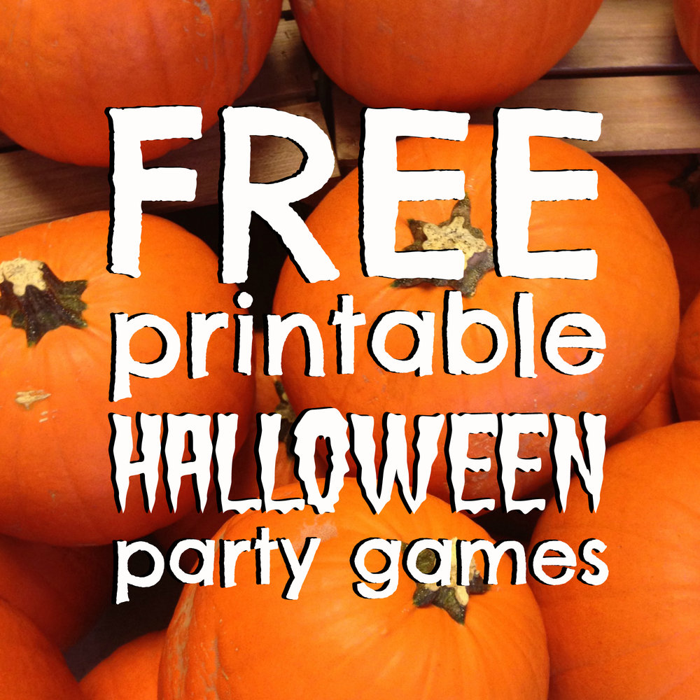 Four FREE Printable Games for your Halloween Party — Nicole O\'Neil ...