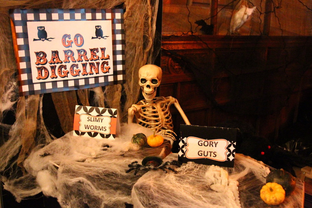 Go Barrel Digging - Free Printable Halloween Party Games and Halloween Game Ideas