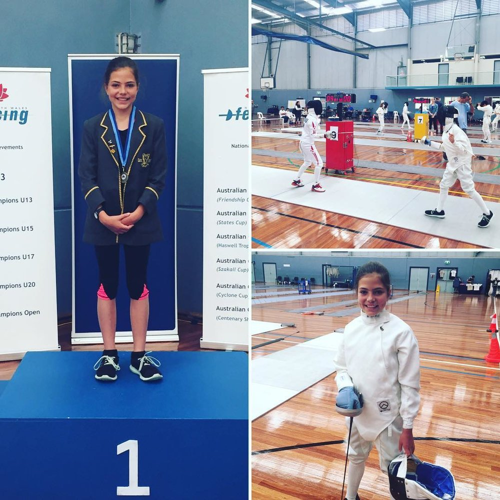 Nawal O'Neil.... Gold medal winner - U13 Girls Épée NSW State School Championships!!!.jpg