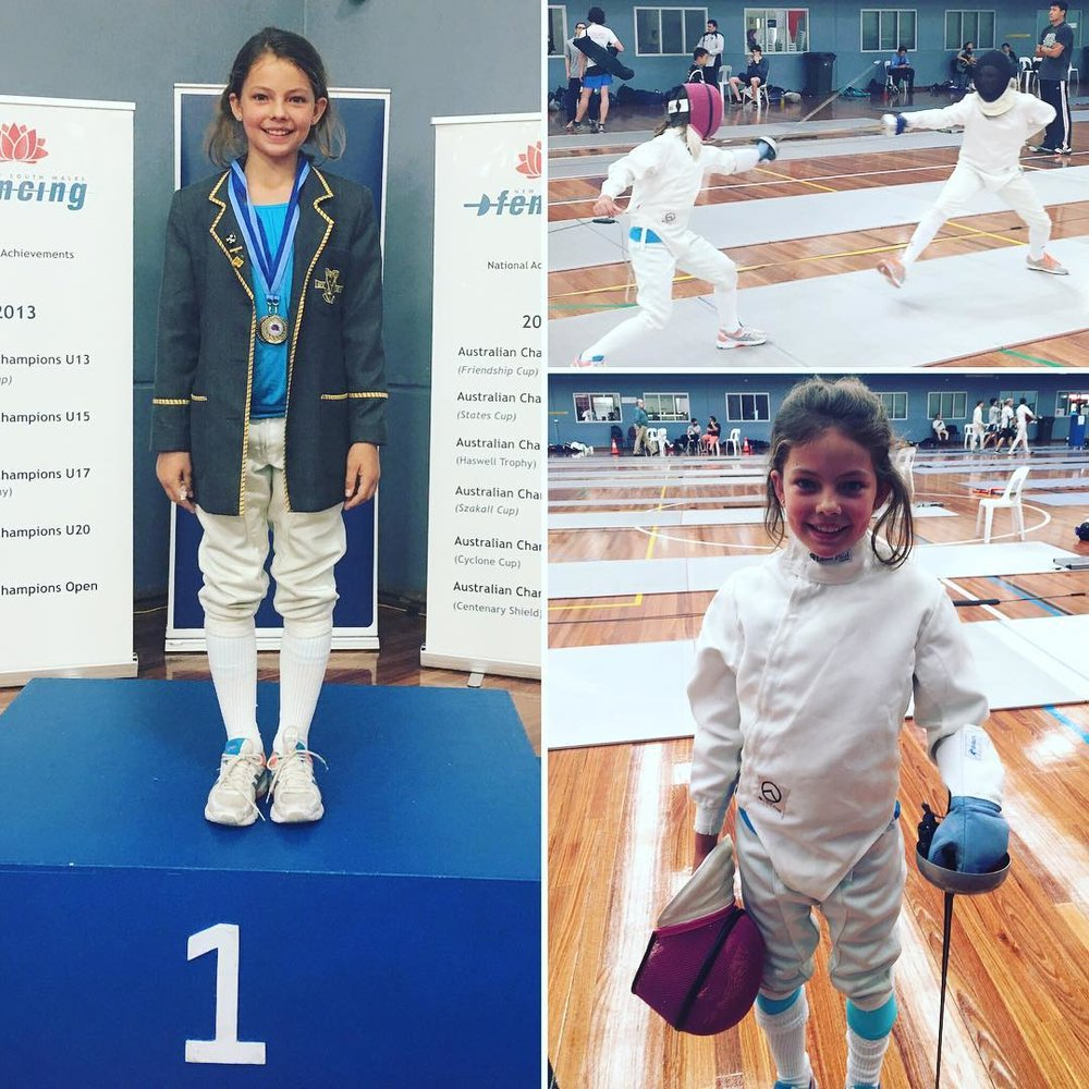 Neve O'Neil - Gold Medalist in the under 11 Épée NSW School State Championships and Bronze Medalist in the under 11 Épée International Friendly Championship..jpg