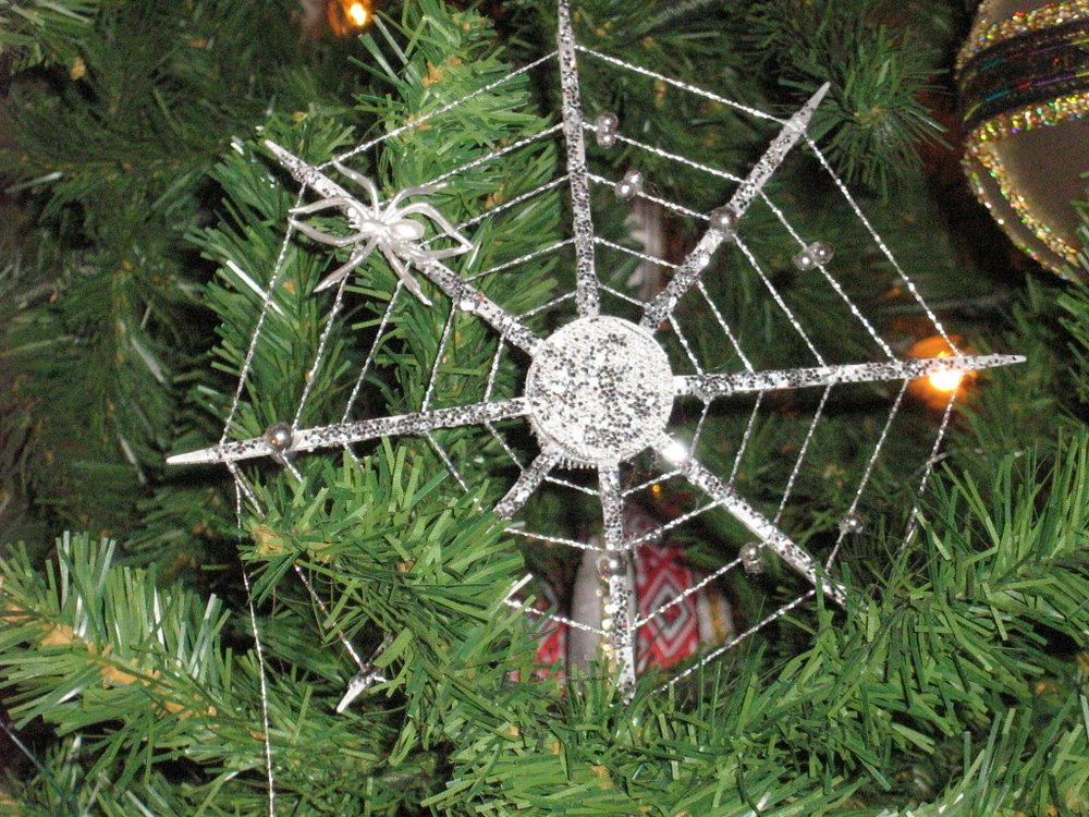 Unique Christmas Traditions You've Never Heard Of - Ukraine Spider Web Christmas Tree Ornaments and Decorations.jpg